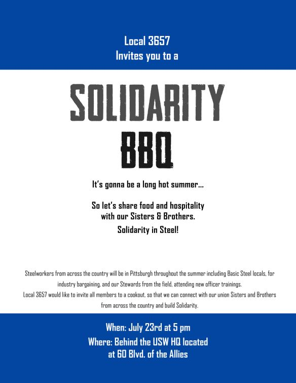 Solidarity cookout